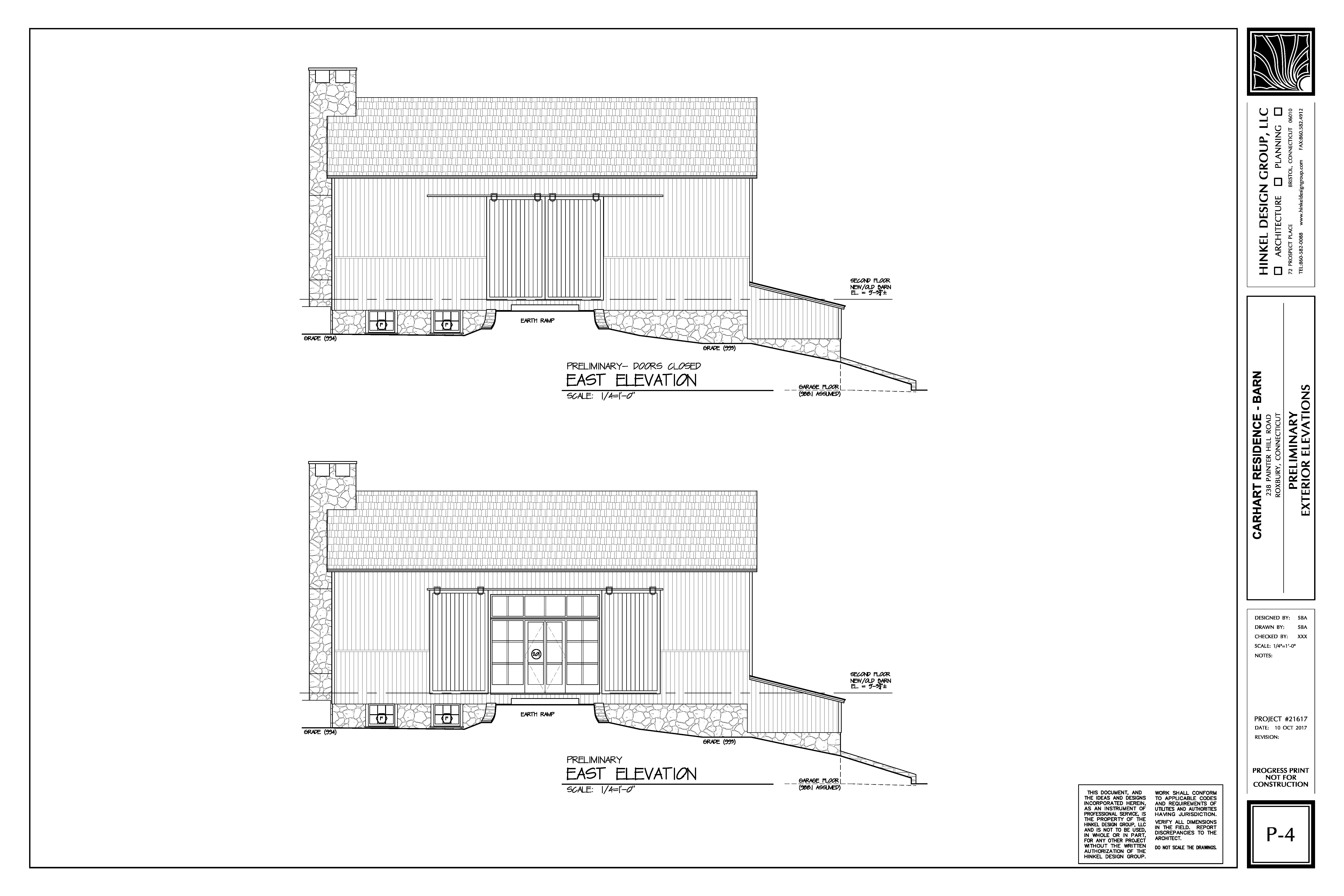 Proposed Barn Remodel: Elevation East
